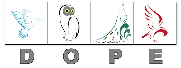picture regarding Printable Leadership Personality Test known as DOPE 4 Hen Persona Verify: Dove, Owl, Pea, Eagle