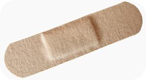 adhesive bandage on white background